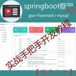 springboot角色权限后台管理系统脚手架实战开发教程包含完整源码【猿来入此自营】