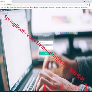 SpringBoot+Vue实现简单的后台信息管理系统源码附带运行视频教程