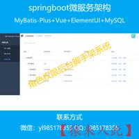 springboot+MySQL+VUE实现的角色权限后台脚手架系统开发源码
