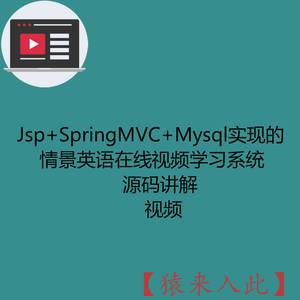 Jsp+SpringMVC+Mysql实现的情景英语在线视频学习系统-源码讲解视频(注意只有视频)
